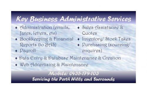 Key Business Administrative Services - Adelaide Accountant