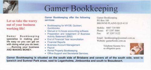 Gamer Bookkeeping - Adelaide Accountant